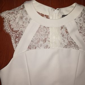 Express lace white cocktail dress